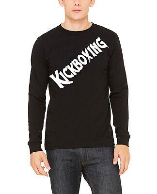 Long Sleeve Black Gloves (Men's Tilted Kickboxing Long Sleeve Black T Shirt V801 MMA Boxing Gloves)
