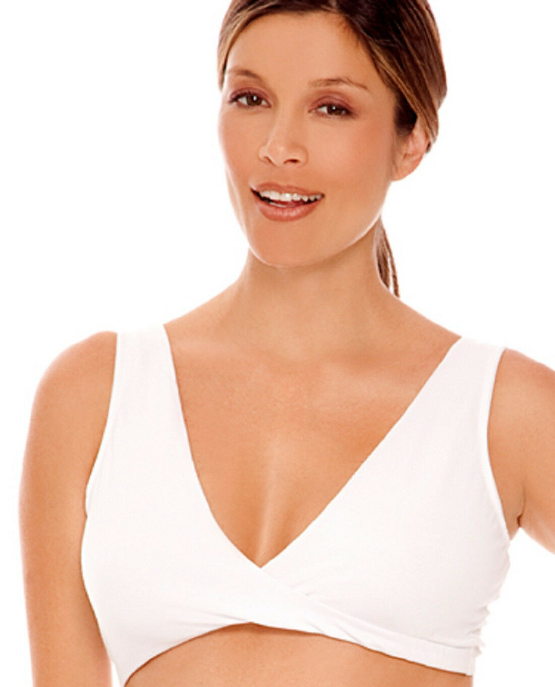 2d9832193b983 Details about Lamaze Cotton Spandex Sleep Bra for Nursing and Maternity -  LM 106