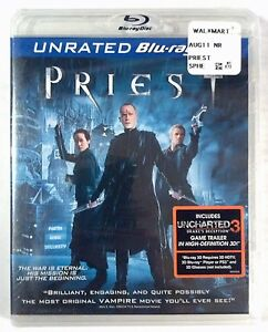Priest 3D (Unrated Blu-ray Disc, 2011) Brand New and Factory Sealed!