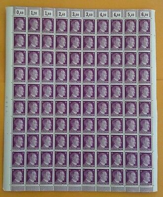 Nazi/Germany - Full sheet of Hitler stamps-6 PF-(100 stamps)..unused,1941.rare