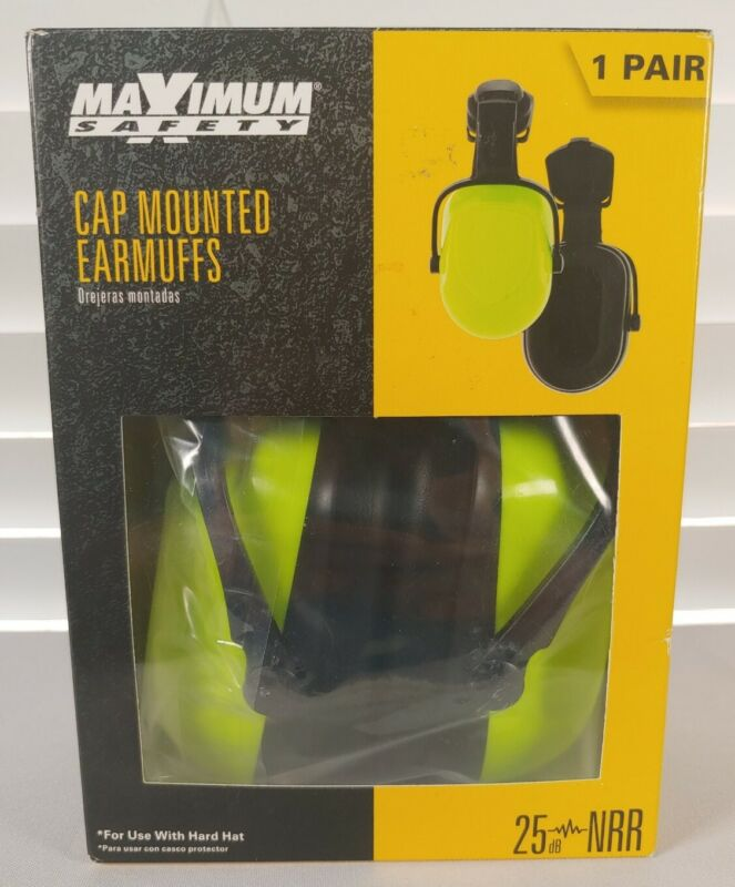 Cap Mount Earmuffs From Maximum Safety For Use with Hard HAT FAST SHIPPING