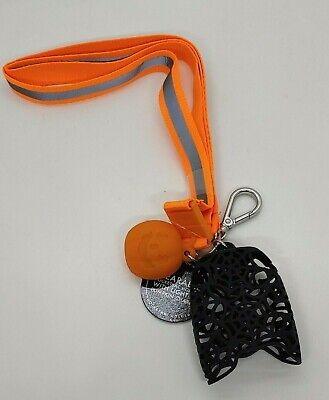 Bath & Body Works Halloween Fall LIGHT UP Pumpkin Wearable Pocket. Bac Holder
