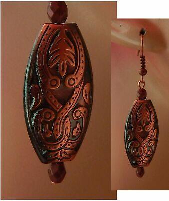Celtic Knot Copper Earrings Charm Drop Dangle Handmade Jewelry Hook NEW Women Celtic Knot Drop Earrings