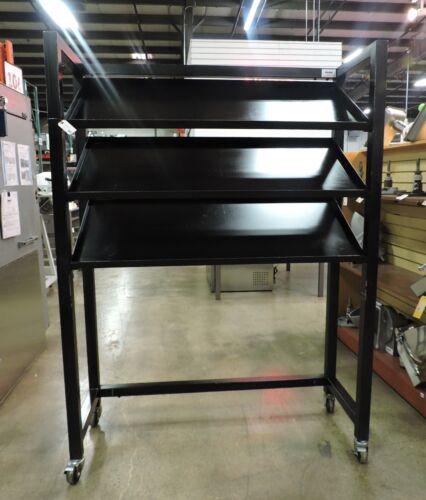 Black 3 Angle Shelf Rack