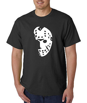 Halloween Hockey Mask T-Shirt - Scary Psycho Killer Costume Style Graphic Tee - Psycho Halloween Costumes