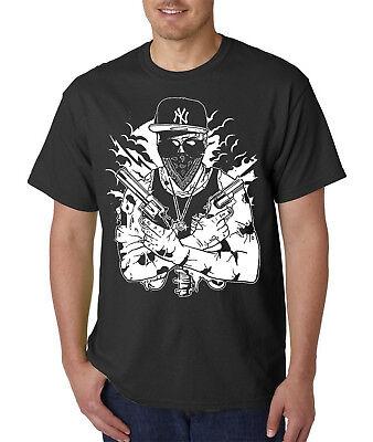 Halloween Rap Beat (Gangster Zombie T-Shirt / Hip Hop Rap Style Walking Living Dead Halloween)