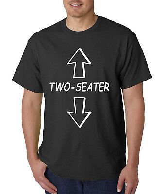 Adult Humour (Two-Seater T-Shirt - Funny Adult Rude Offensive College Humor Vulgar)