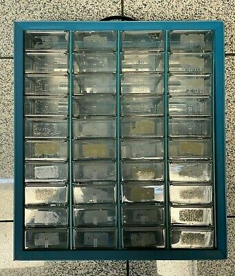 Vintage 40 Drawer Metal Akro Mills Small Parts Storage Organizer Cabinet Bin