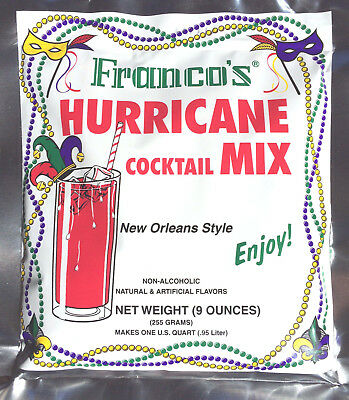 Hurricane Mix (2 PACK PAT O'BRIENS HURRICANE COCKTAIL MIXES FRANCO NEW ORLEANS MARDI GRAS PARTY )