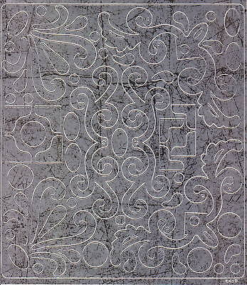 Scrapbook-Sticker-Ecken-Ornamente-antik/silber-M-0419s