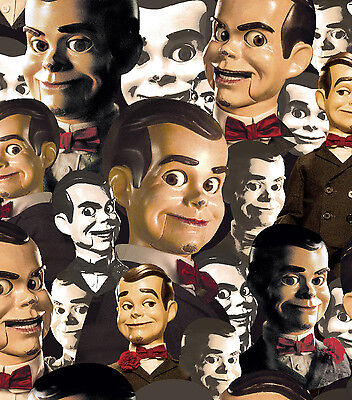 LINED VALANCE 42X15 GOOSEBUMPS PUPPET DUMMY DOLL SLAPPY R L STINE BOOK FABRIC  - Goosebumps Puppet