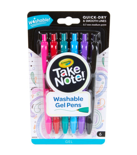 Crayola Take Note! Washable Gel Pens 6ct