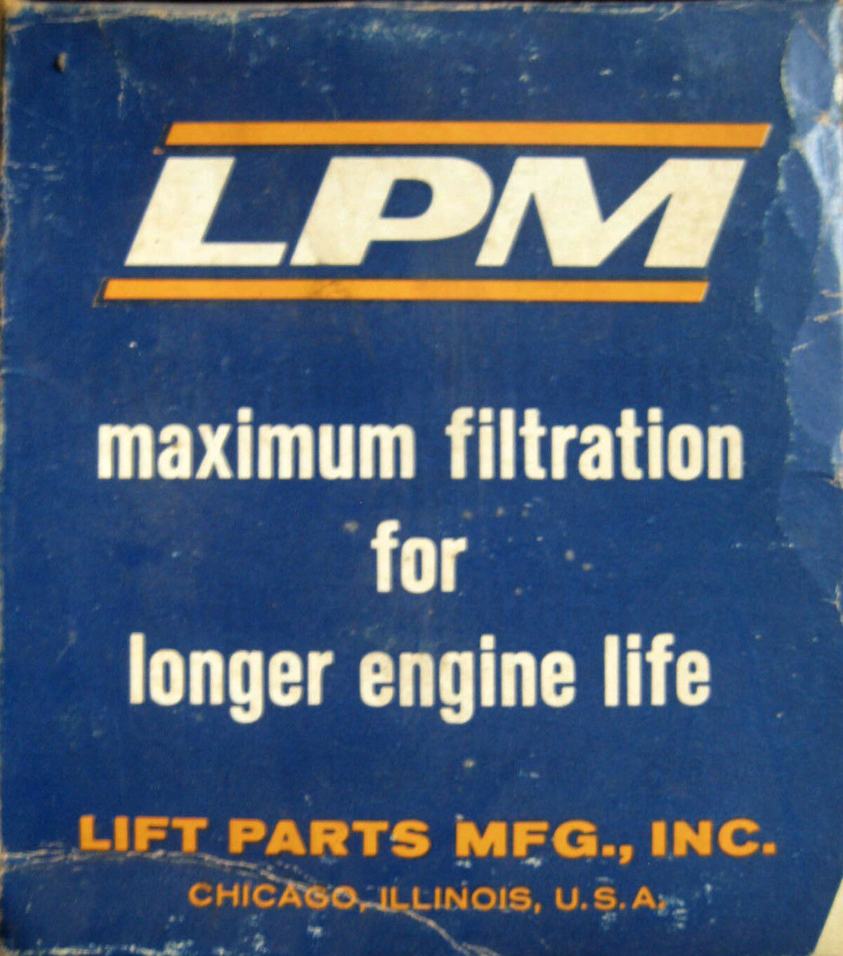 LPM Oil filter cartridge L-3 - NOS in the box with gasket.
