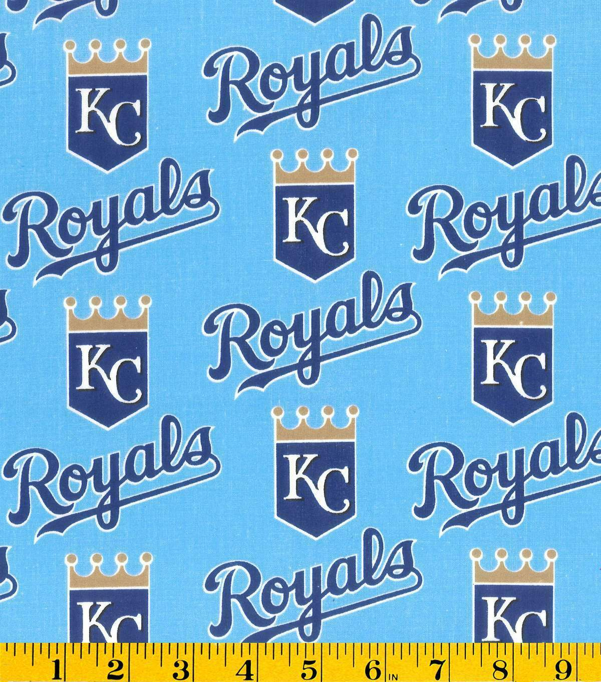 "Kansas City Royals Cotton FQ 1/4yd 18""x29"""