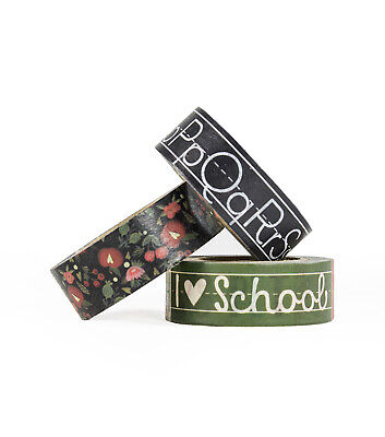 3 Rolls back to School Washi Tape Decorative Planner Supply journal teacher](Back To School Decorations)