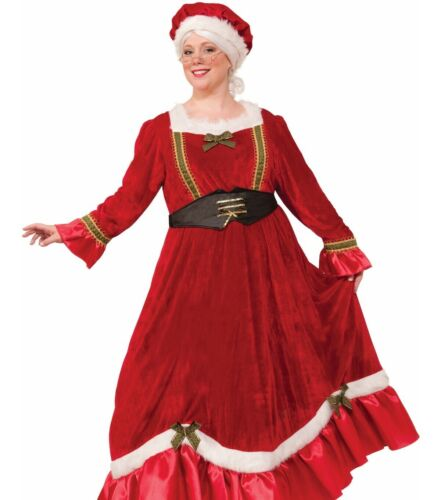 Mrs. Claus Costume Dress Mrs Miss Santa Clause Christmas - P