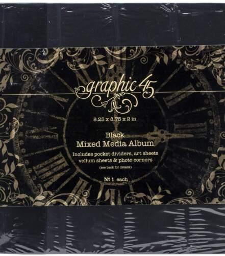 Graphic 45 Staples Mixed Media Album Black
