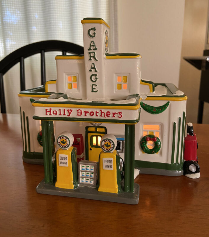 Department 56 Holly Brothers Garage Original Snow Village Retired