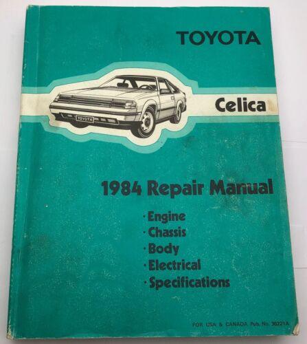1984 TOYOTA CELICA Repair Shop Manual