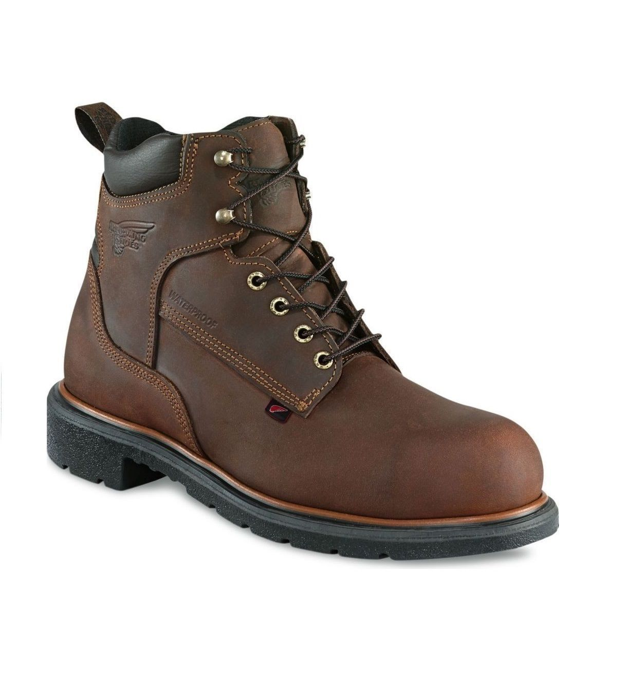 Red Wing 415 Mens Brown MADE IN THE USA Waterproof Leather Boots