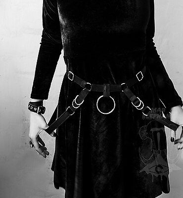 Womens adjustable belt with rings harness belt fashion elastic accessory bondage