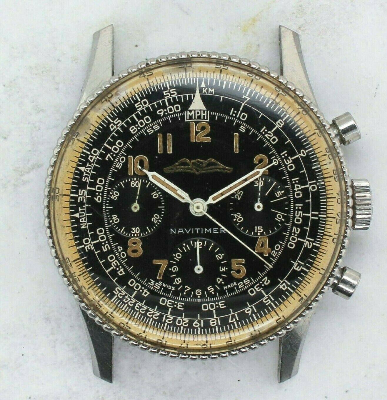 Vintage Breitling Navitimer AOPA Black Chronograph Wristwatch Ref. 806 Venus 178 - watch picture 1