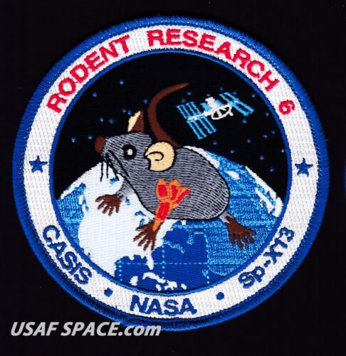 """RODENT RESEARCH 6 -SPACEX DRAGON CRS-13- ISS NASA CASIS 4"""" REPRO - Mission PATCH"""