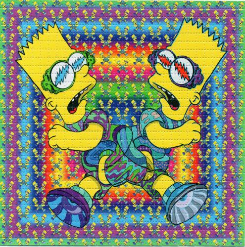 Simpsons Bart Boltz X2 by Jamie Monteiro Limited Ed BLOTTER ART tripp tabs