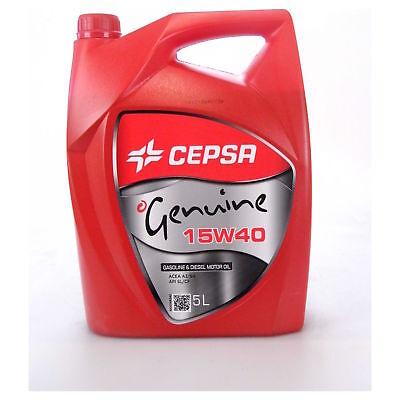 Botella de 5 litros aceite de motor Cepsa Genuine - 15 W...