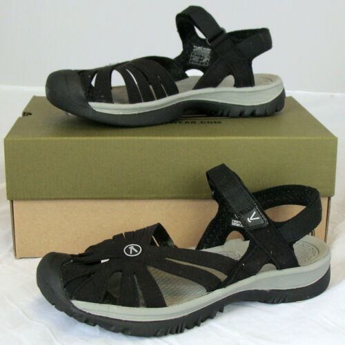KEEN Rose Sandal - Women's Black/Neutral Gray, 9.5