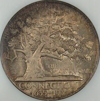 Click now to see the BUY IT NOW Price! 1935 CONNECTICUT COMMEMORATIVE SILVER HALF DOLLAR NGC MS 66 TONED