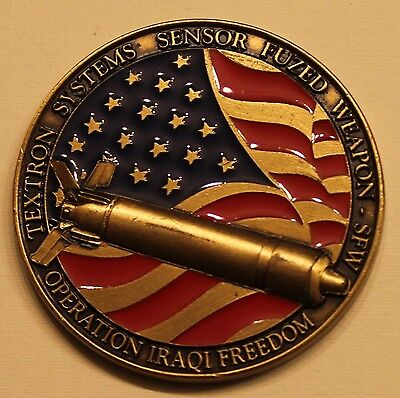 Textron Systems Sensor Fuzed Weapon   Sfw Oif Air Force Challenge Coin