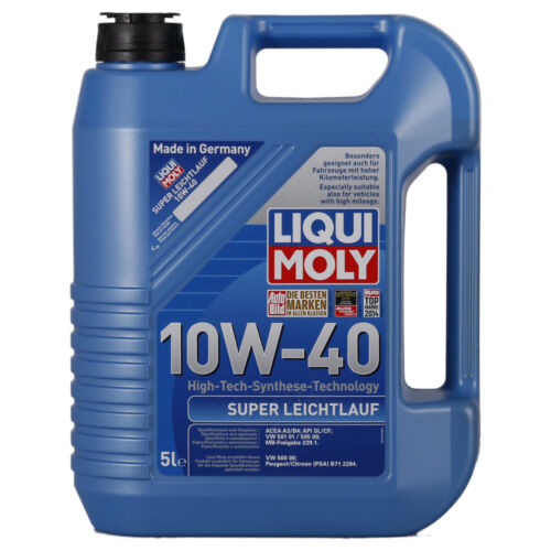 liqui moly super leichtlauf 10w 40 motor l 5 liter vw audi. Black Bedroom Furniture Sets. Home Design Ideas