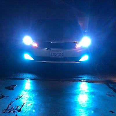 Pair Car H1 Ice Blue LED H/L Beam Headlights Kit 8000K For Ford Fiesta 2013-2018, used for sale  USA