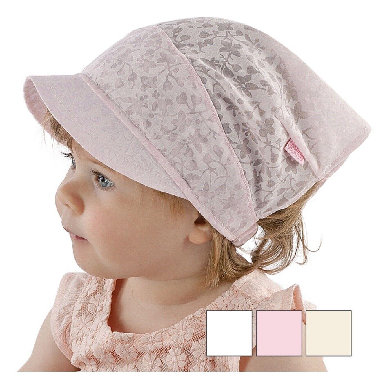 Baby Kopftuch Sommer Mütze Mädchen Stirnband Blumen-muster Gr. 40 bis 52 NEU