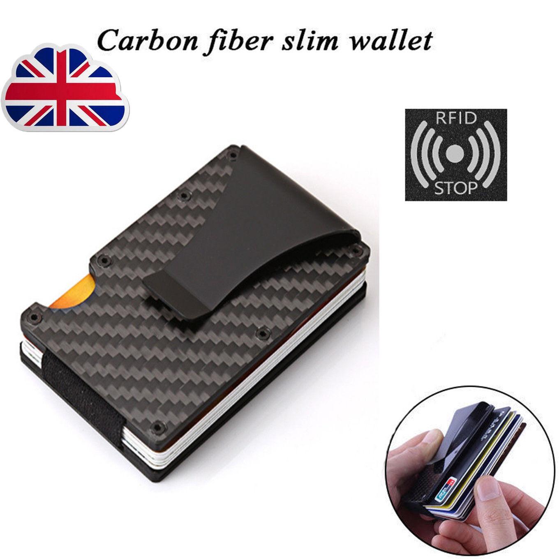Men Stainless Steel Slim Money Clip Credit Card Holder Wallet Purse Portable Box