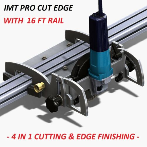 IMT PRO CUT EDGE Makita Motor Rail Saw, Grinder/ Polisher For Granite-16 Ft Rail