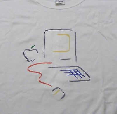 Picasso Apple Macintosh 128 Logo T-Shirt - 2XL