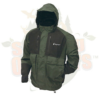 Frogg Toggs - Men's Firebelly 2-Tone Jacket, Green/Black, X-