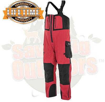 - 3XL Frogg Toggs Pilot Guide Fishing Rain Bibs Bib Pants Red & Black