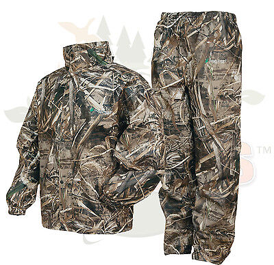 Camo Frogg Toggs All Sport Rain Suit Realtree Max 5 Gear Jacket & Pants XL