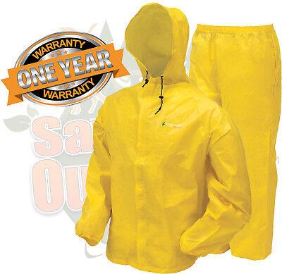 Frogg Toggs  Ultra-Lite II Rain Suit Gear Hiking Camp FREE shipping Yellow SM