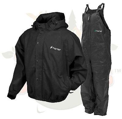 NEW 3XL XXX Frog Togs Frogg Toggs Black Pro Advantage Rain Suit Jacket and Bibs
