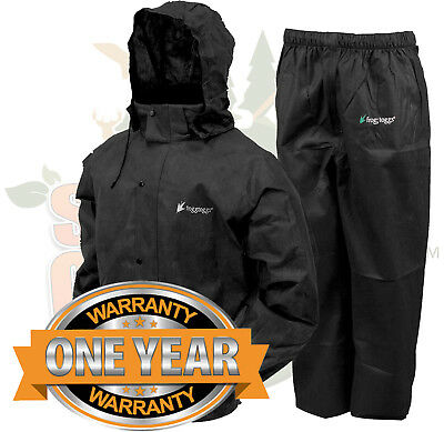 Frogg Toggs All Sport Rain Suit, Black Jacket/Black Pants, S