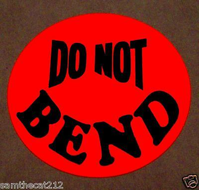 500 Do Not Bend Label Sticker Big 1 12 1.5 Round Circle