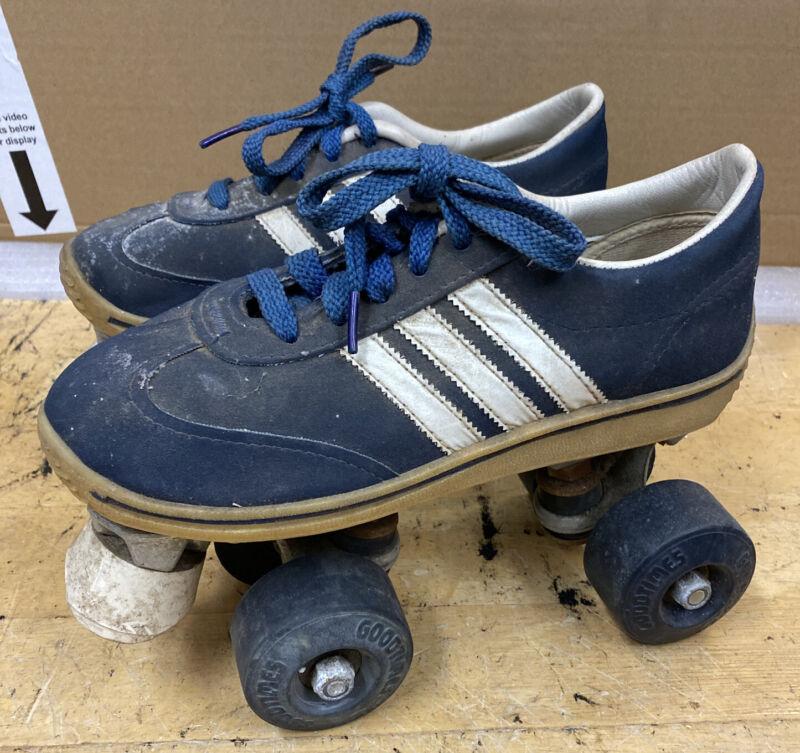 Vintage Low Top blue QUAD ROLLER SKATES size 5