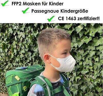 10x Kleine FFP2 Masken für Kinder, CE 1463 zertifiziert, einzeln verpackt