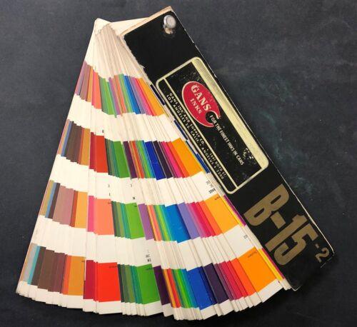 Vintage GANS INK & SUPPLY Los Angeles Color Formula Chart Guide Fan Inks