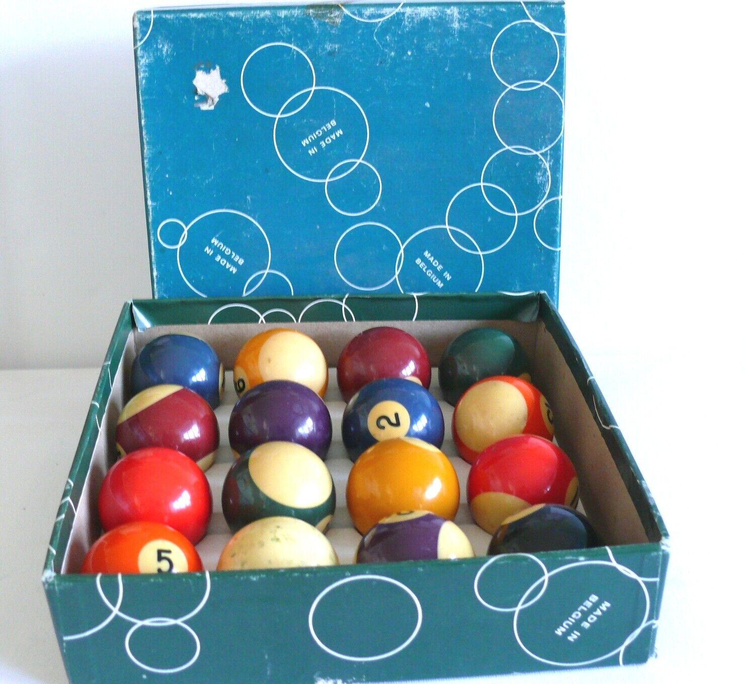 Pool Ball Set  Spots and Stripes 1.7/8 Ball Aramith Set