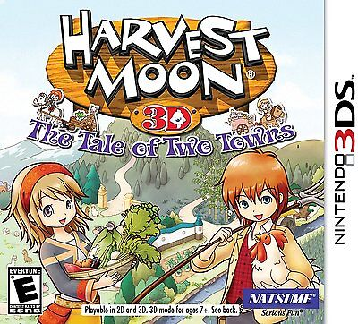 Harvest Moon 3D: The Tale of Two Towns [Nintendo 3DS, NTSC, Farm Life Sim] NEW comprar usado  Enviando para Brazil
